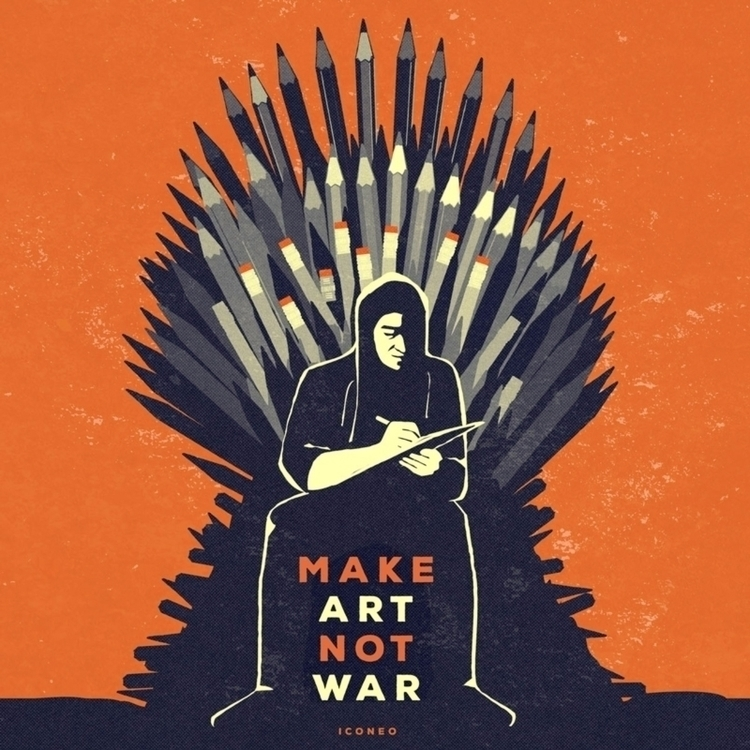 Art War - GameOfThrones, illustration - iconeo | ello