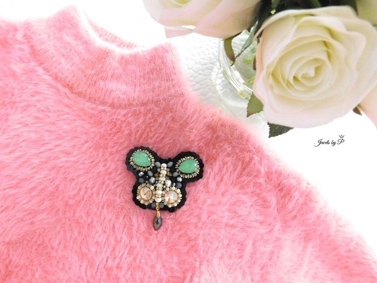 brooch, handmadeaccessories, beadedjewelry - jewelsbyp | ello