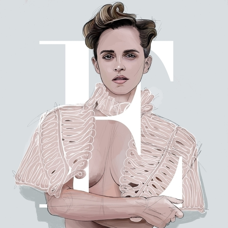 Emma Watson Illustration - emmawatson - fmonroyr | ello