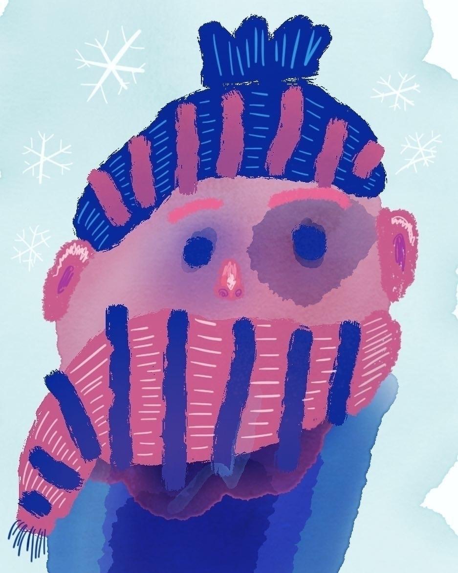 Blue eye cold winter day - illustration - borianag   ello