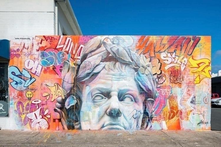 Mural PichiAvo Kaka'ako, Hawaii - streetartunitedstates | ello