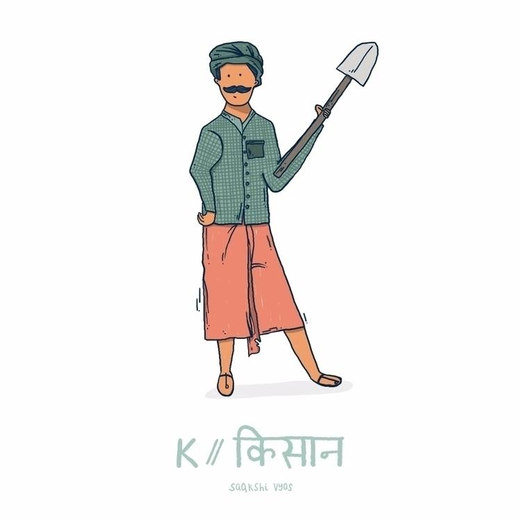 // Kissan (farmer) किसान - 36days_K - skiimo | ello