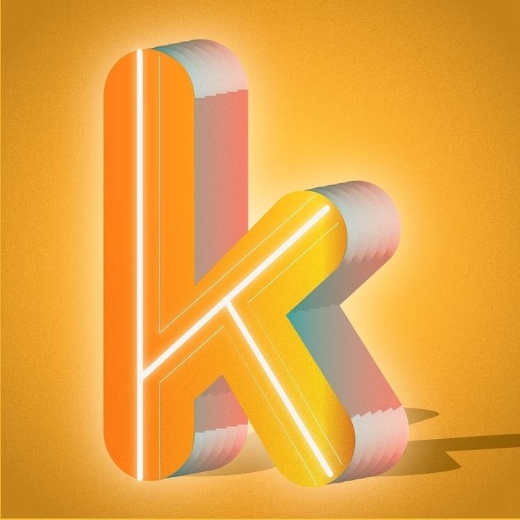 36daysoftype, 36days_k, typography - tif_flowers | ello