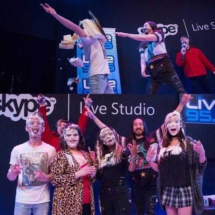 Actual Steve Aoki, Live 95.5 Or - loganlynn | ello
