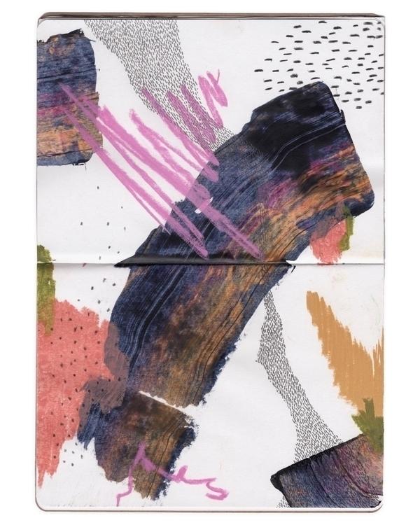 Sketchbook - mixed media - abstract - claibuco | ello