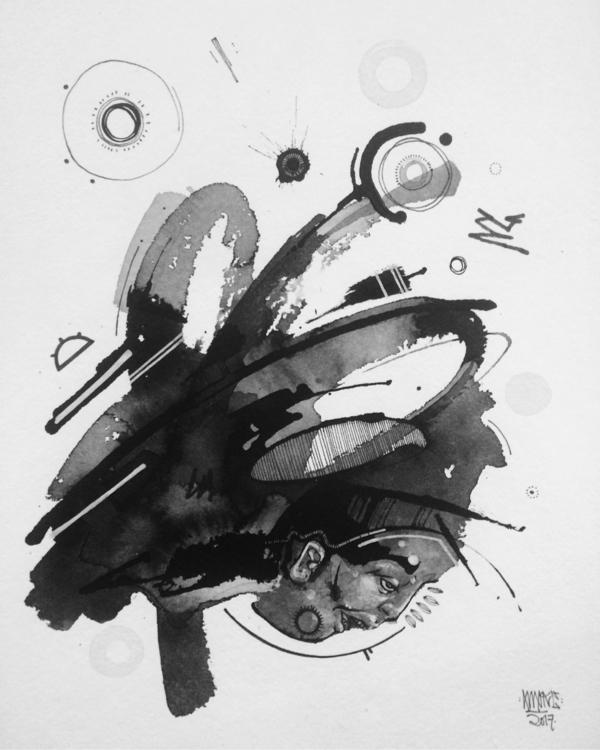 Pressure India ink 8x10 100$ Me - awake_pdx | ello