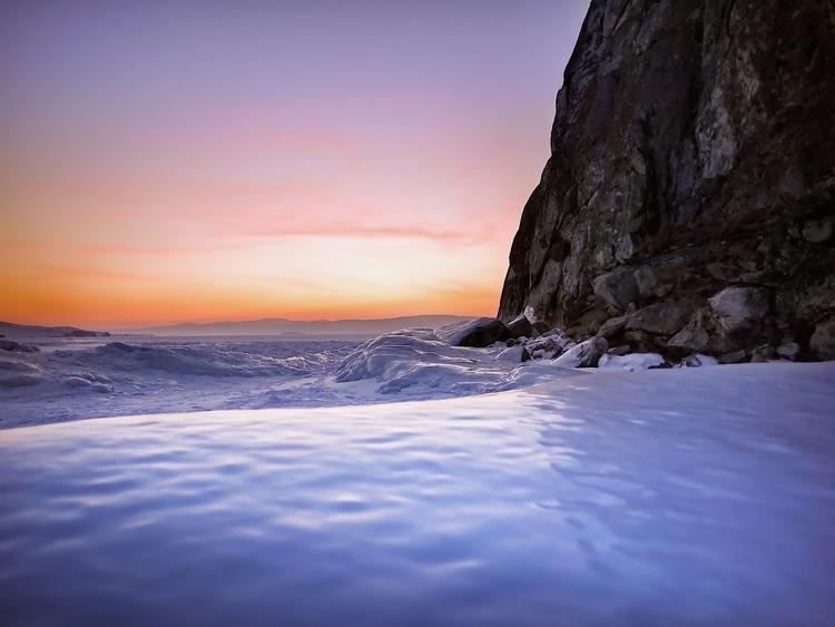 Winter evening Cape Burkhan. Th - 8moments | ello