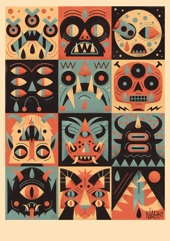Monstro Bingo  - art, devil, evil - niark1 | ello