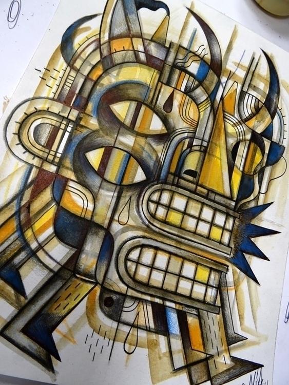 Drawing paper - paris, portrait - niark1 | ello