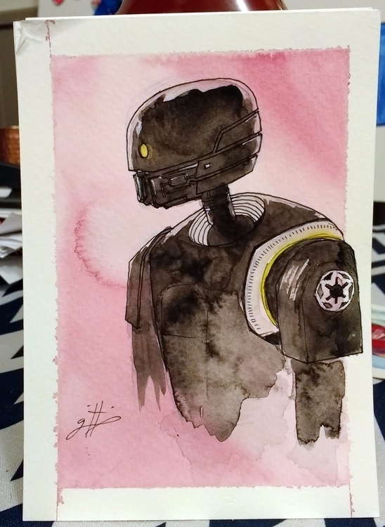 portrait SK20 watercolor ink 14 - griffiness | ello