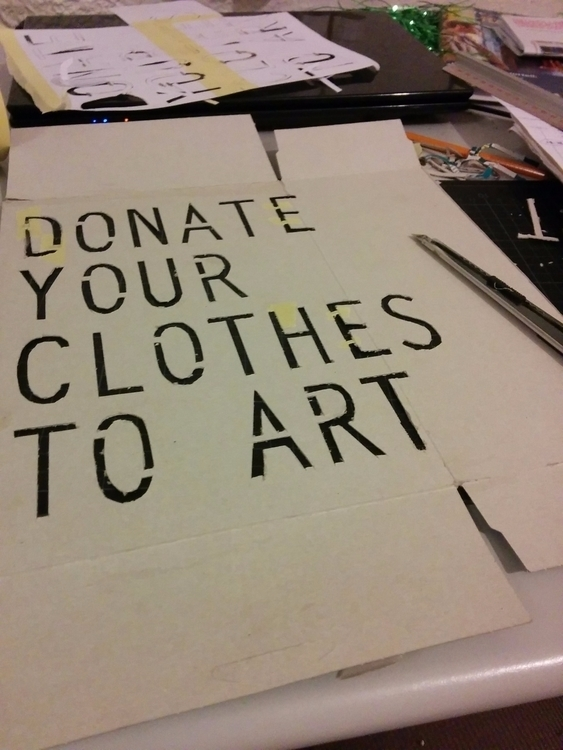 Donate clothes art collaborativ - juancarlosrosacasasola | ello