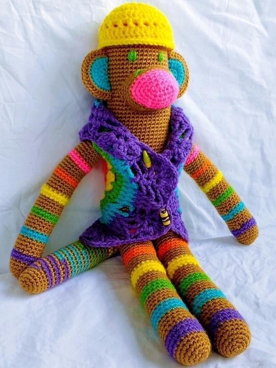 Happy promised cheerful monkey  - miniaturemonkeycreations | ello