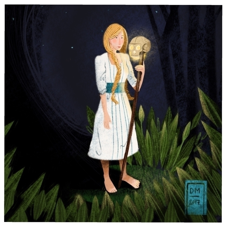 Vasilisa beautiful - illustration - doodlesmarc | ello
