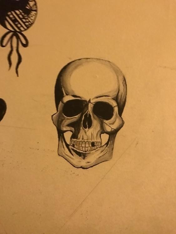 art, skull - pencilsandbrushes98 | ello