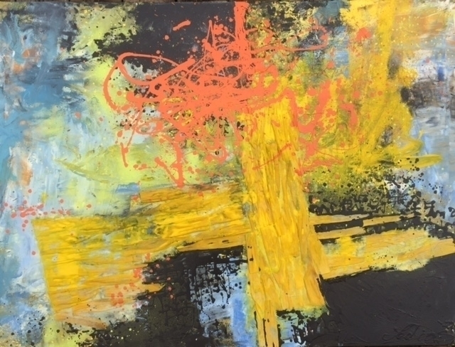 Mixed Media Abstract Painting  - seed2light   ello