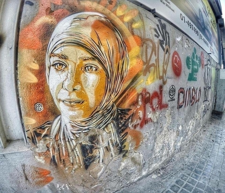 Artist: C215 Location: Beirut,  - streetartunitedstates   ello