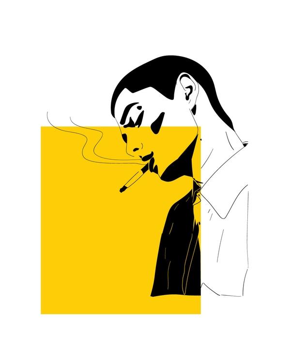 illustration, contrast, character - gunimation | ello