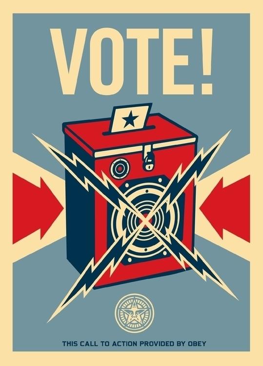 VOTE! Shepard Fairey / Obey - election - peligropictures | ello