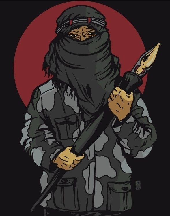 Creative Resistance - illustration - thomcat23 | ello