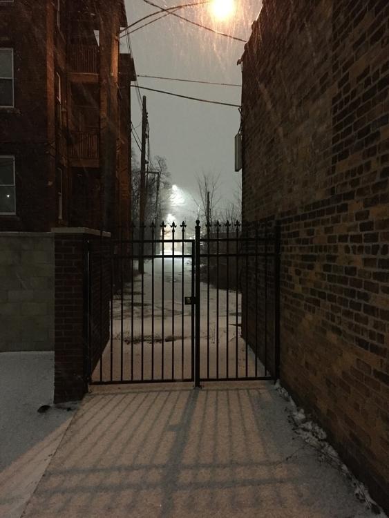 snowy night Detroit. January, 2 - aweirdmisc | ello