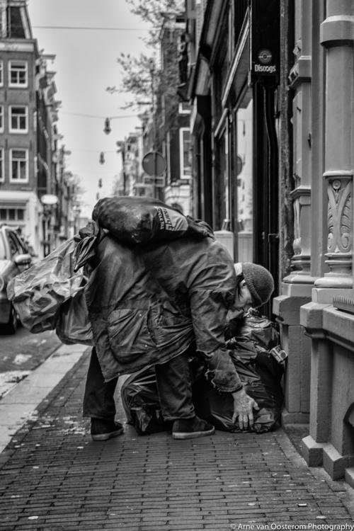 people Amsterdam - homeless, blackandwhitephotography - arnevanoosterom | ello