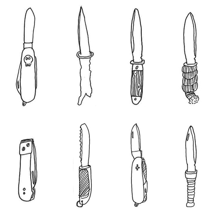 Illustrations Sketchbook, knife - massuro   ello
