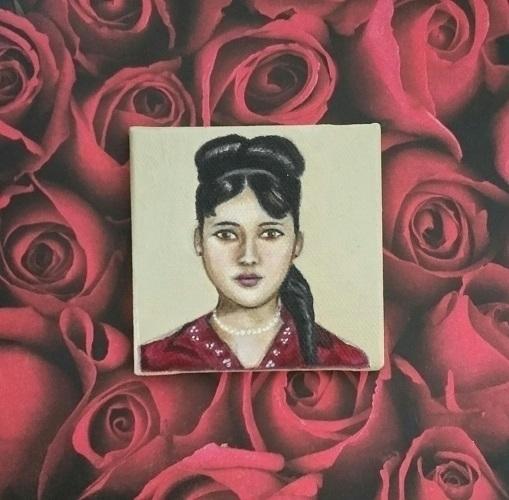 Miniature portrait 3x3 Oil canv - nora_   ello