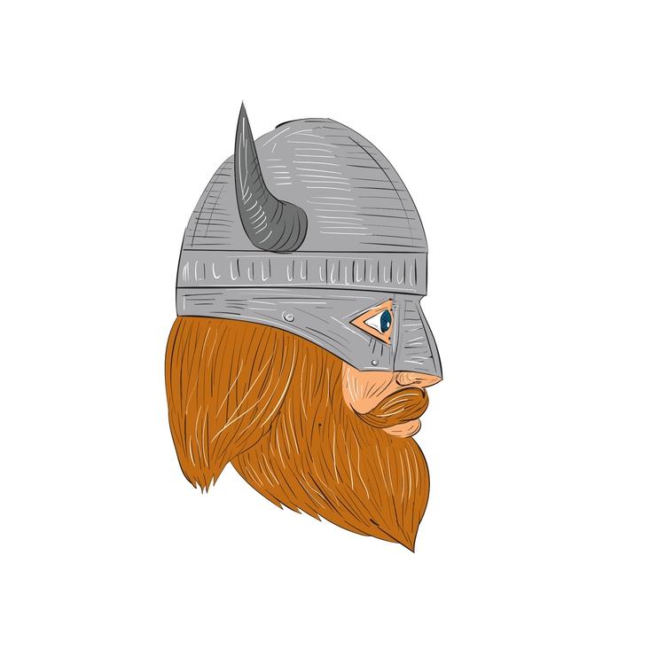 Head Side View - Viking, Warrior - patrimonio | ello