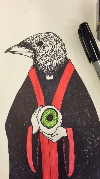 Father Crow Pen marker paper gi - thornicus | ello