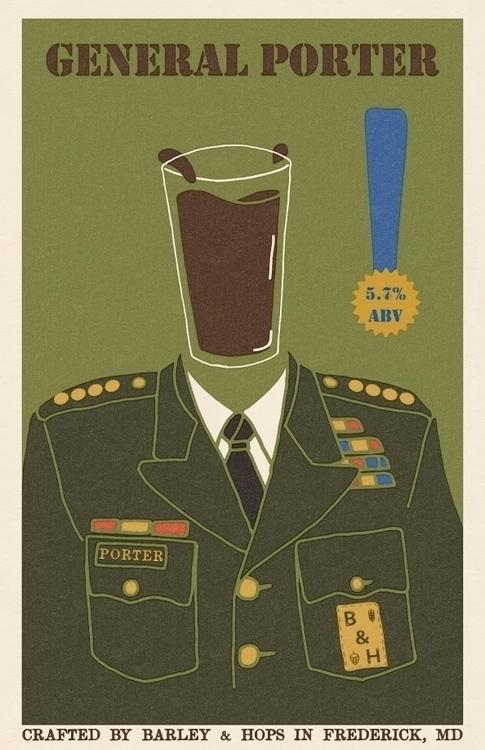 poster General Porter - craftbeer - bryanbaltz | ello