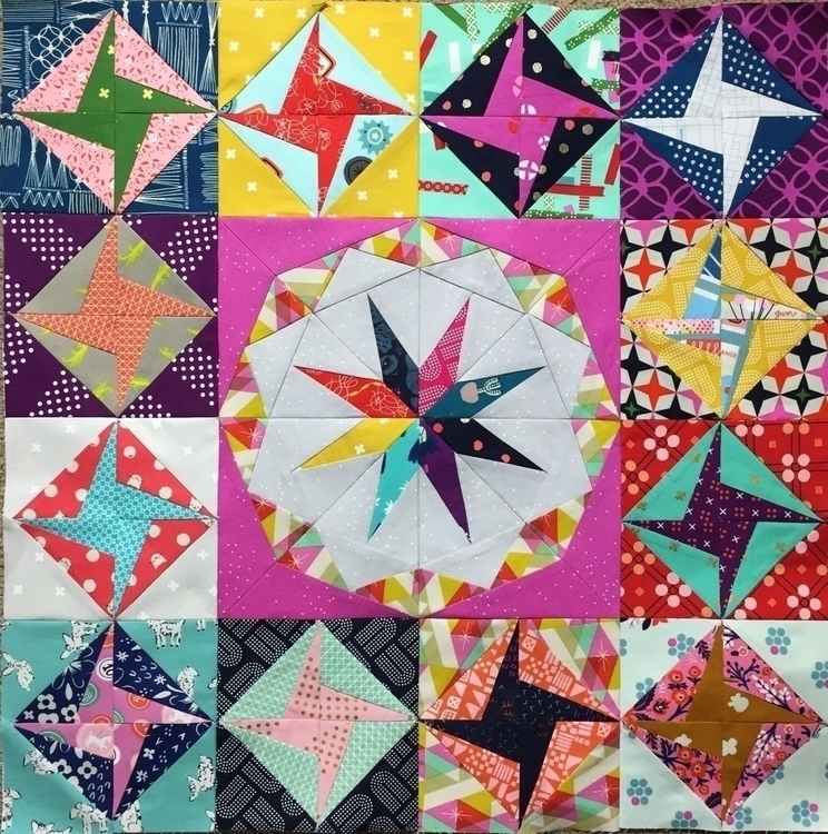 combined patterns Spinning Star - laquintaquilts | ello