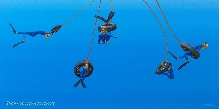 COMPAGNES DE JEU - Playmates  - swing - bluepainter | ello