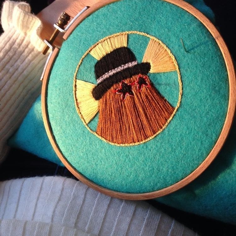 workinprogress, embroideryart - crossthepop | ello