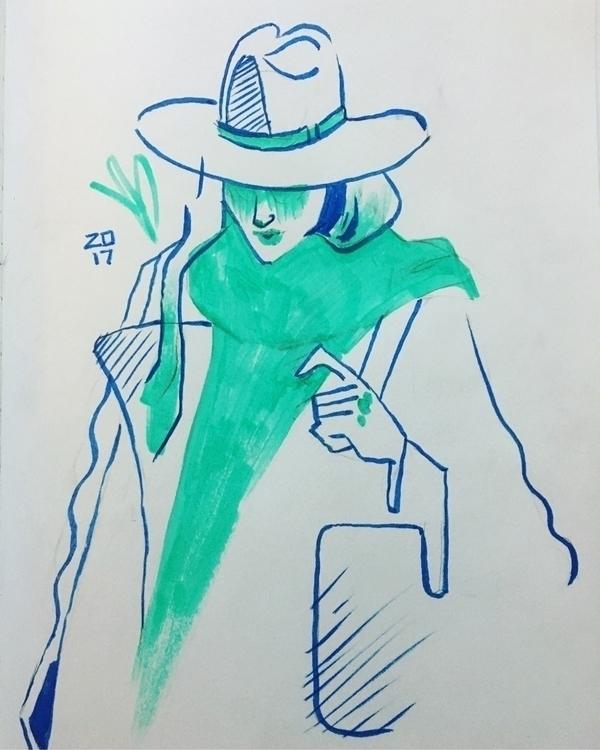 Snow day women - sketchbook, illustration - evandileo | ello
