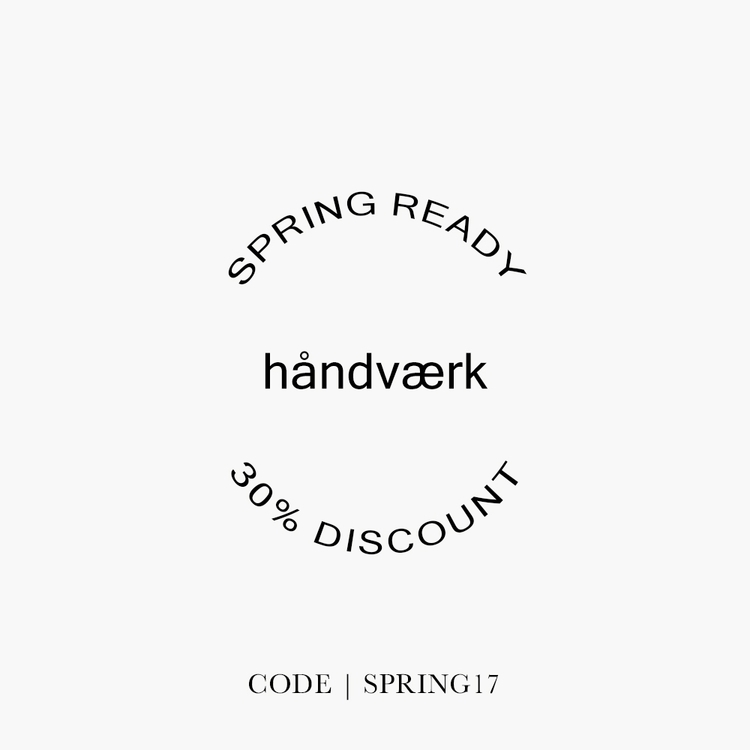 Spring Ready Event | 30% Entire - handvaerk | ello