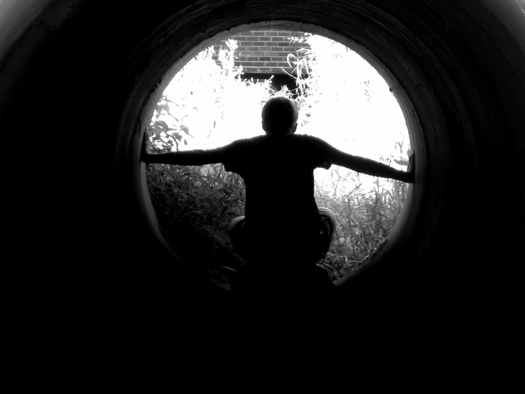 photography, tunnel, people, monochrome - splendifer | ello