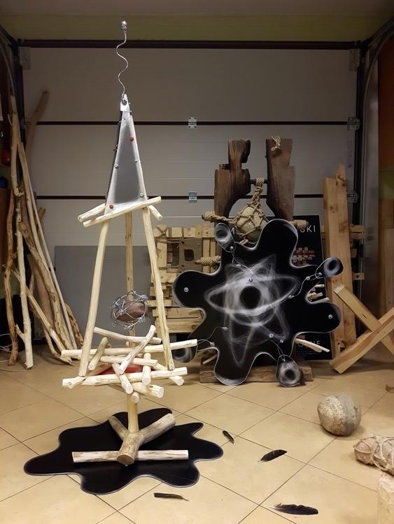 studio - art, starsandflowers, wood - matyjaszewski   ello