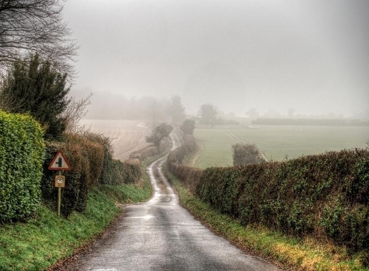 Foggy Lane - rural road fog Win - neilhoward | ello
