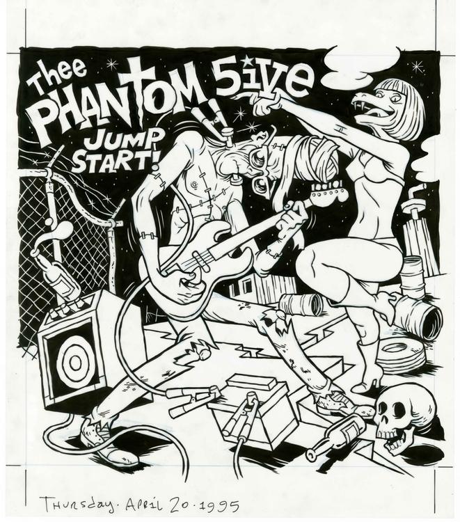 Thee Phantom 5ive cover art Sol - dannyhellman | ello