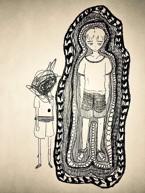 drawing, illustration, pen - themartiansgirlfriend | ello
