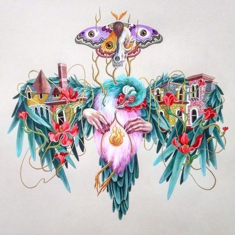 Gouache painting - art, illustration - kitmizeresart | ello