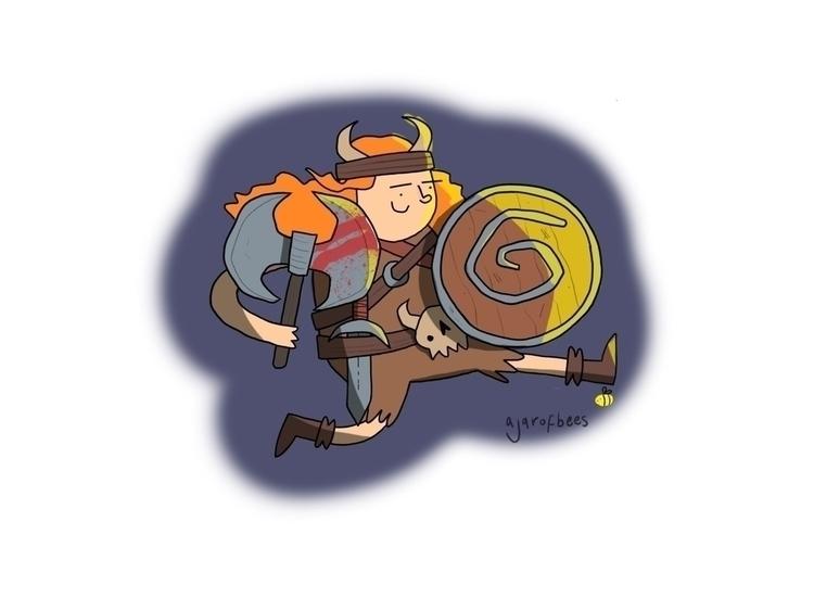 Haralda brave - draw#drawing#illustrate#illustration#art#instaart#applepencil#ipadpro#fantasy#dungeonsanddragons#dungeons#dungeon#dwarf#characterart#characterdesign#digitalart - ajarofbees | ello