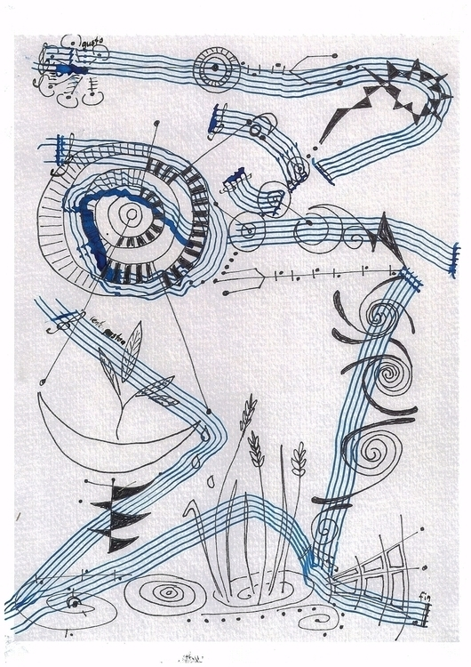 Lines Clouds musical realizatio - dakyri | ello