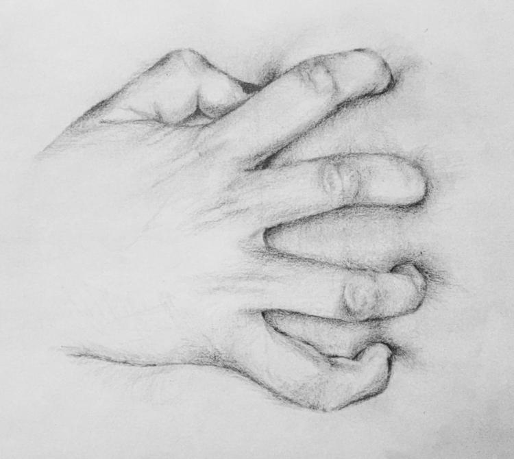 Holding heart - art, drawing, hand - megancmurphy | ello