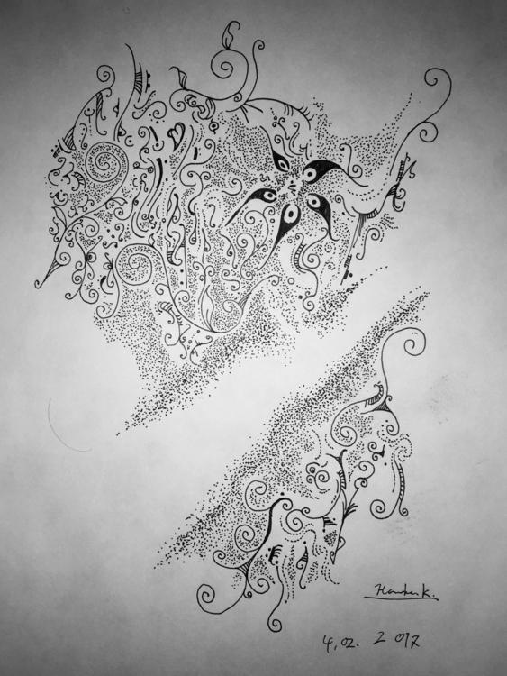 Feb. 2017 - drawing, blackandwhite - themartiansgirlfriend | ello