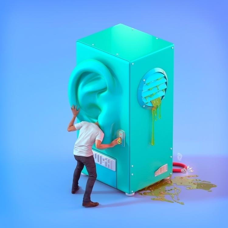 Ear machine - 3dmodel, toy, modo3d - david-rivera | ello