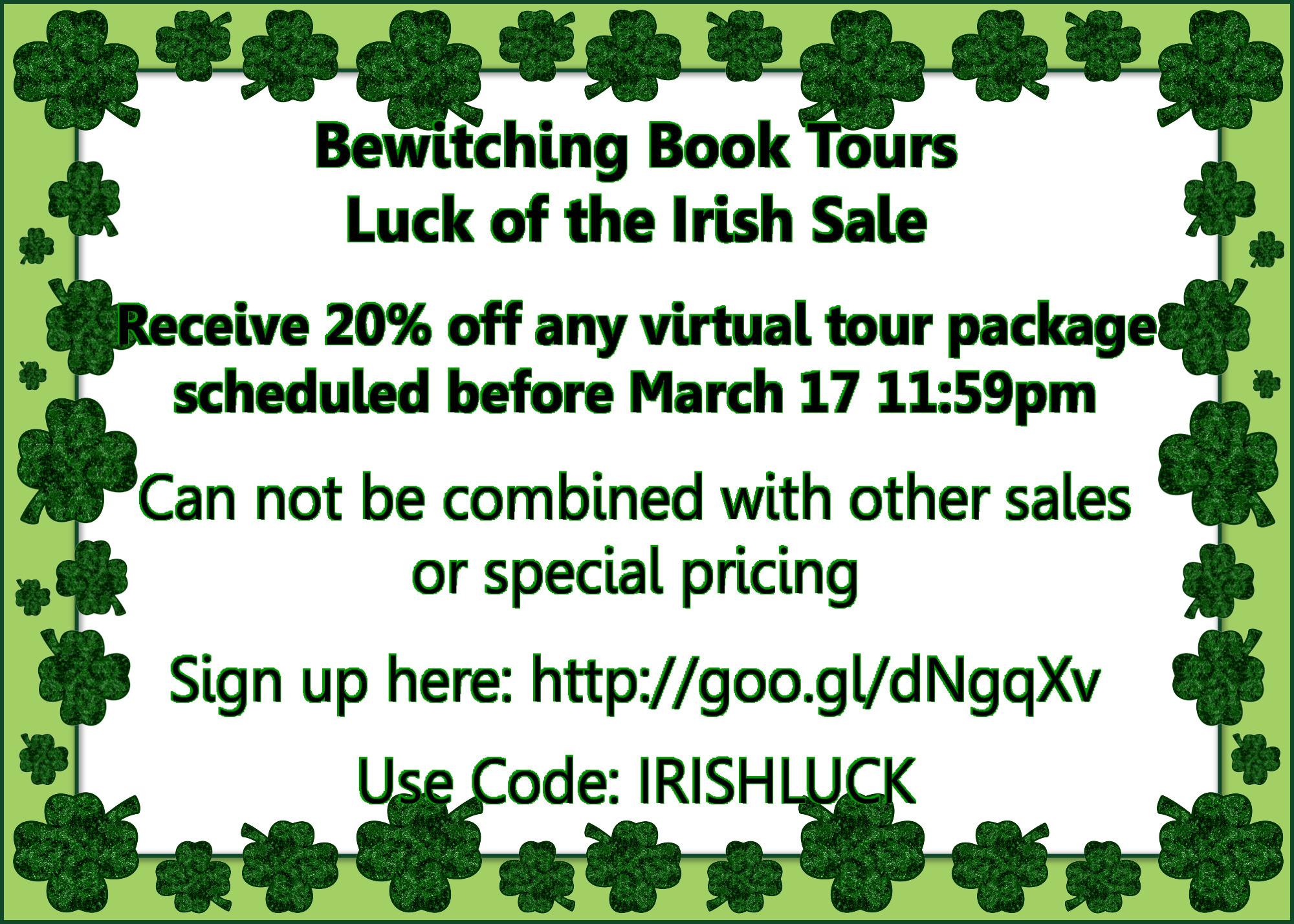 Bewitching Book Tours Luck Iris - roxannerhoads   ello