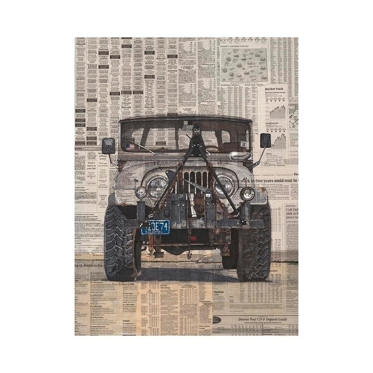 Jeep 20x30, pen marker newsprin - ajambro | ello