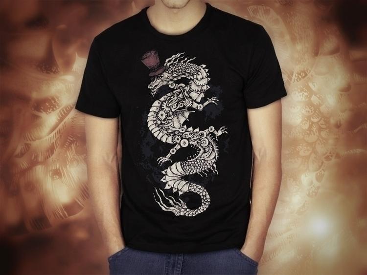 (original design - Dragon, ScreenPrint - akzynth | ello