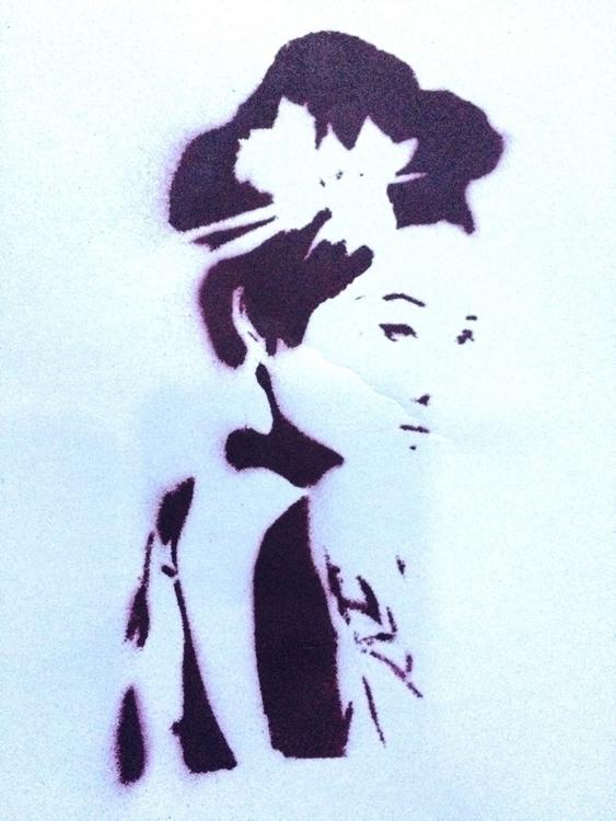 JAPAN GIRL - art, minimal, urbanart - liz_art_berlin | ello